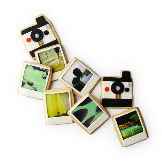 polaroid cookies with custom photos!