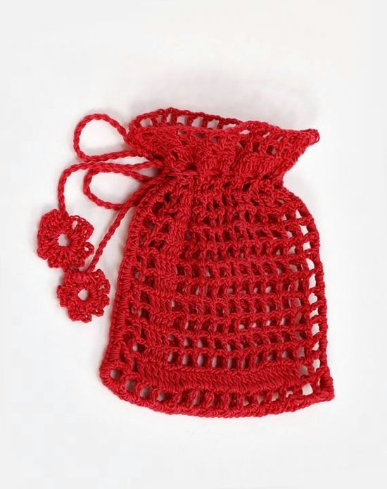 Valentine Day Gift bag Crochet bag Handmade by Albahandmadeforyou, $12.00