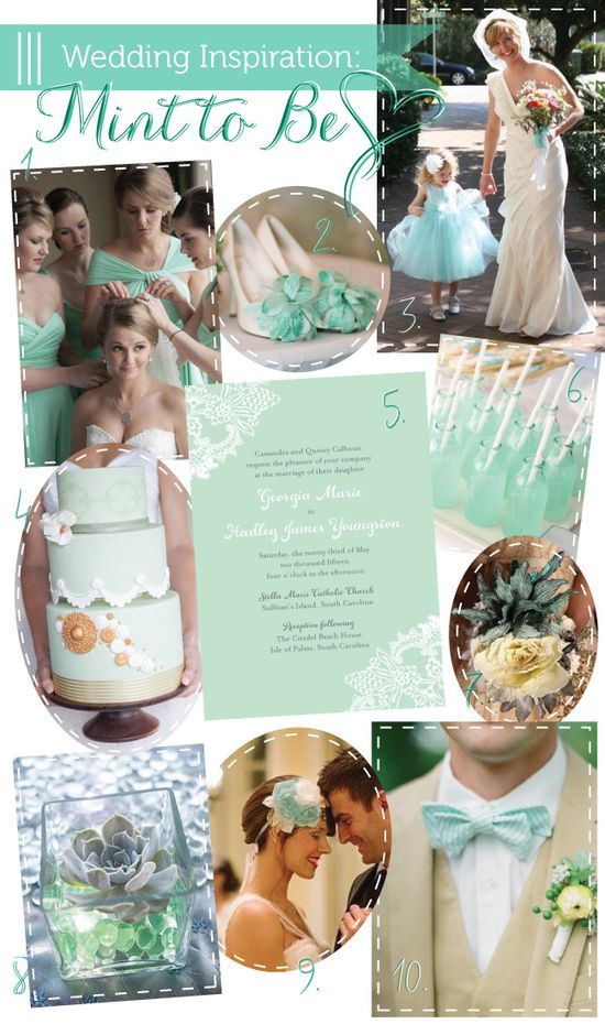 Mint Wedding #Mint #Wedding Inspiration ? How to organise your dream wedding, within your budget ? itunes.apple.com/... Wedding App for brides, grooms, parents & planners … #mint #wedding #ideas #ceremony #reception #flowers #bouquets #cake #rings … For more wedding ideas pinterest.com/...