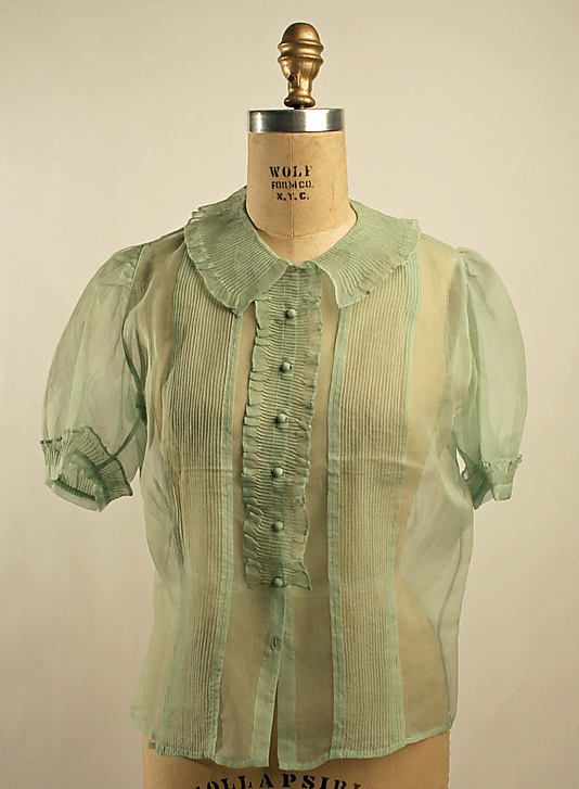 1930's French Silk Blouse