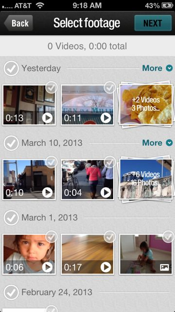 Magisto - Edits your smart phone videos in a few clicks. Now with still photos too! A must-have for every parent.