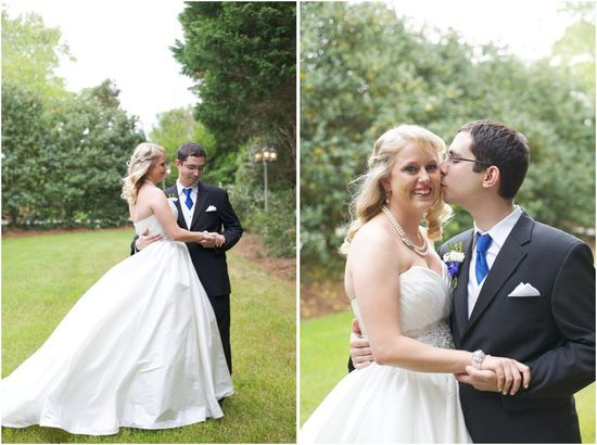 southern wedding portraits - romantic garden wedding photography