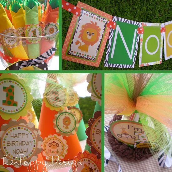 Cute Birthday Party Ideas - Safari Party #birthday #safari #inspiration #idea #party #cake