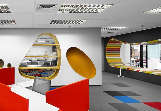 Creative office design by M Moser Associates, via Flickr.