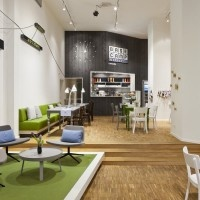 BASE_camp, a mobile phone shop, café, co-working space, workshop and event location in Berlin, Germany.