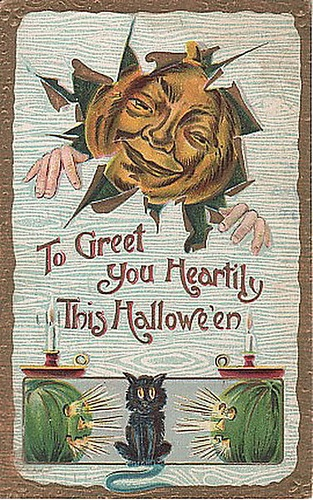 To greet you heartily this Halloween. #vintage #Halloween #cards