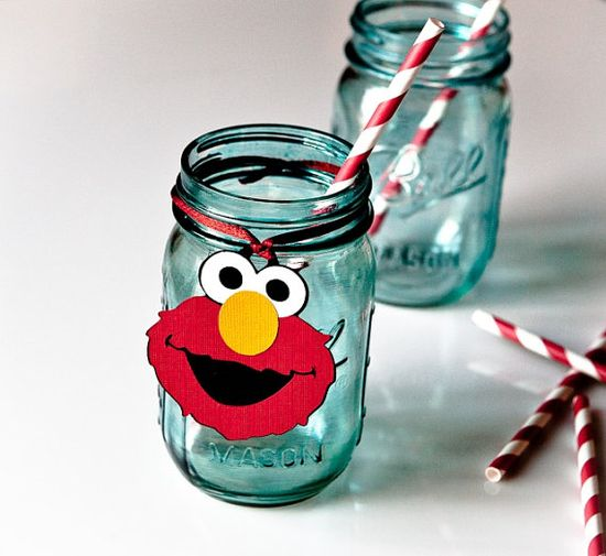 Elmo Birthday Favor Gift Tags Set of 12 by CupcakeDream, $12.00  Need these in a Winnie the Pooh design.