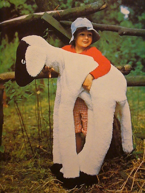 Giant stuffed lamb from the Complete Encyclopedia of Crafts. Volume 12, 1975.