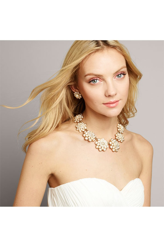 kate spade new york 'sweet zinnia' floral necklace #Nordstrom #Wedding