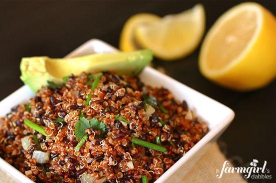 Quinoa & Black Rice Salad with Cumin & Avocado by a farmgirlsdabbles #Salad #Quinoa #Rice #Avocado #afarmgirlsdabbles