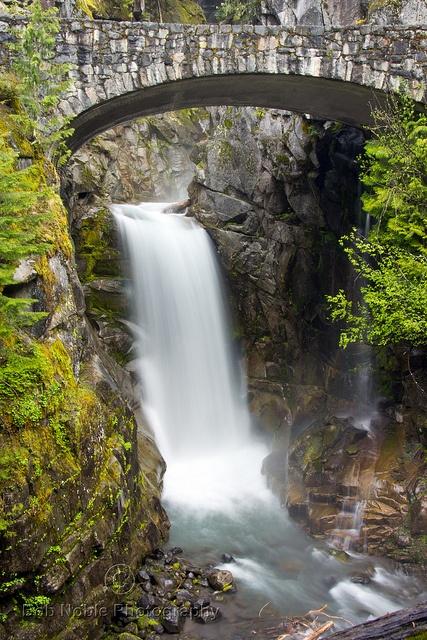 Christine Falls, Mount Rainier National Park, Washington State - USA