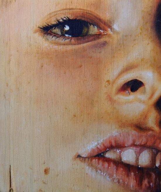 """Saatchi Online Artist: Erica Elan Nelson; Oil, 2012, Painting """"Building Block III"""""""