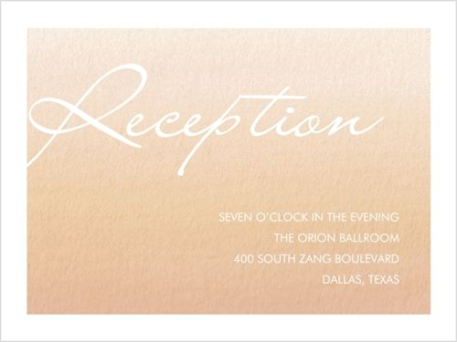 Full Ombre Reception Card