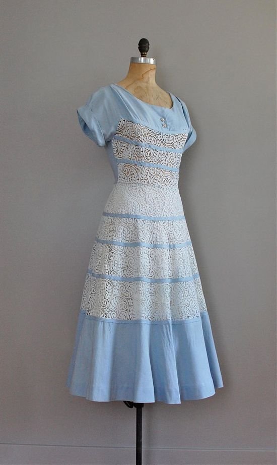 vintage 1950s Salyna Lace dress