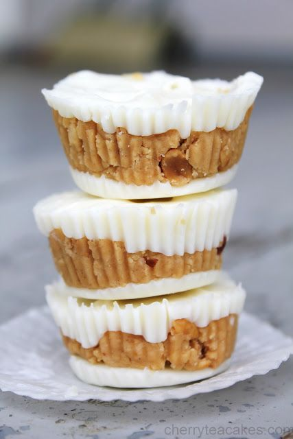 Homemade White Chocolate Peanut Butter Cups