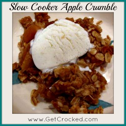 Slow Cooker Apple Crumble - Easy & Delicious!! #dessert #getcrocked