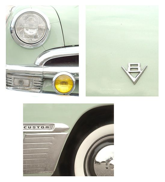 Mint Green Classic Car by semi sweet studios
