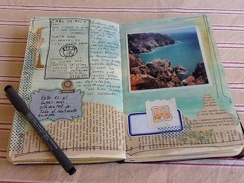 What a beautiful travel art journal! I love keeping a record about the details of my trips.