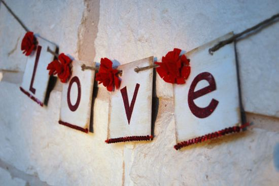 Red love banner.