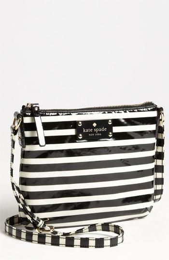 Show your stripes with this kate spade new york bag.