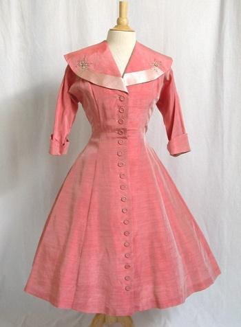 Pink 1950's Swing Dress