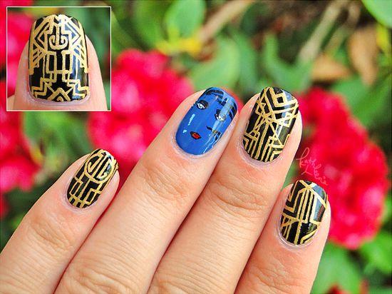 Great Gatsby Nail Art