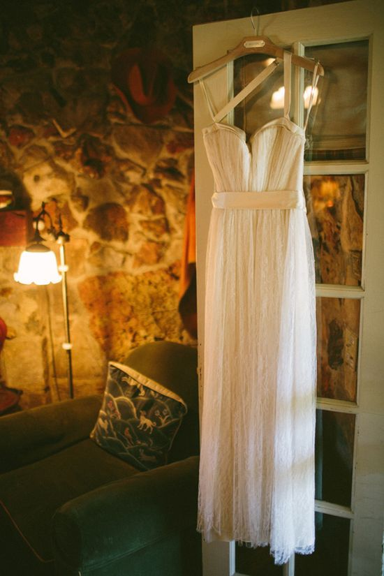 flowy BHLDN wedding gown // photo by Ryan Price // view more: ruffledblog.com/...