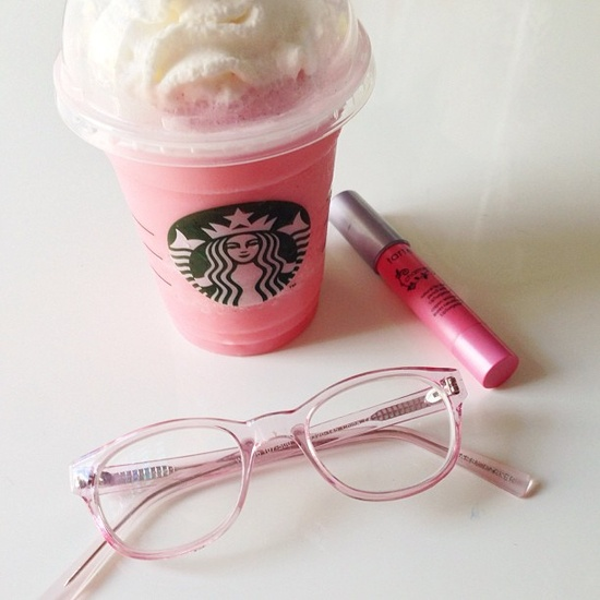 The Cotton Candy frap from the secret menu at Starbucks
