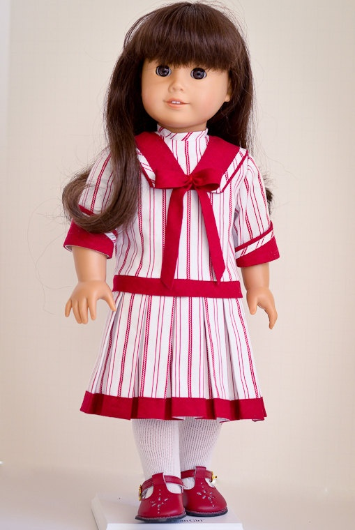 Early 1900s Frock for Samantha, Rebecca, all American Girl Dolls. $52.00, via Etsy.