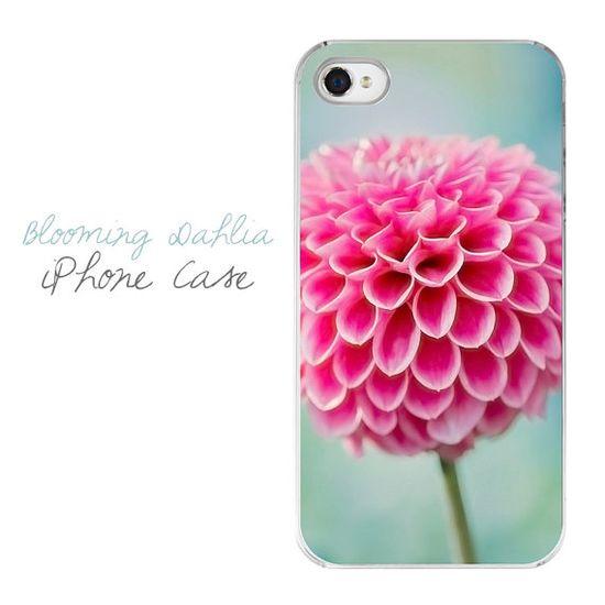 Flower iPhone Case  Hot Pink Mint Dahlia by JessaMaePhoto on Etsy, $28.00