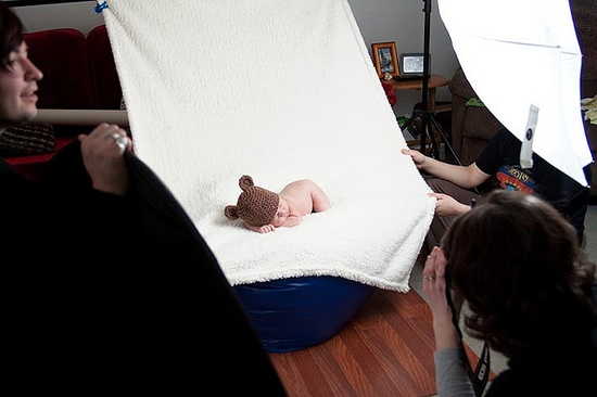 Newborn Photo Session - behind the scenes