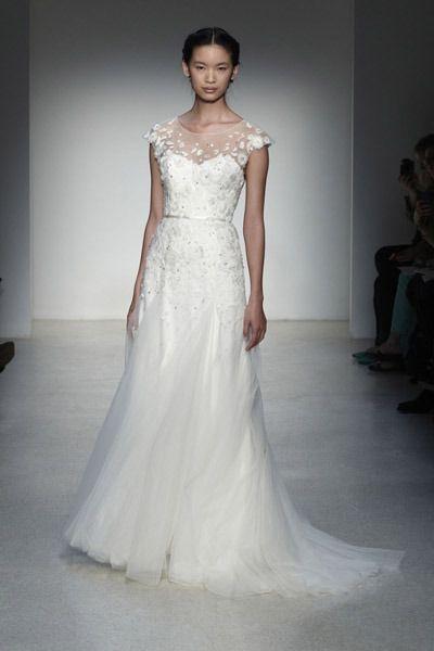 Christos Fall 2013 pt1 (dress wedding dress white gown christos thomas kletcka) - Lover.ly