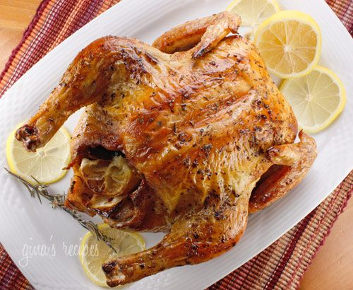Roast Chicken with Rosemary and Lemon - make sure you have a thermometer!