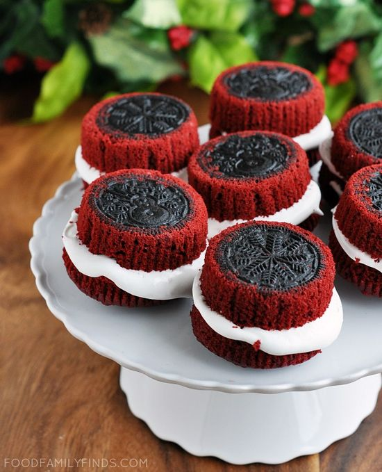 Red Velvet OREO stuffed Cupcakes~