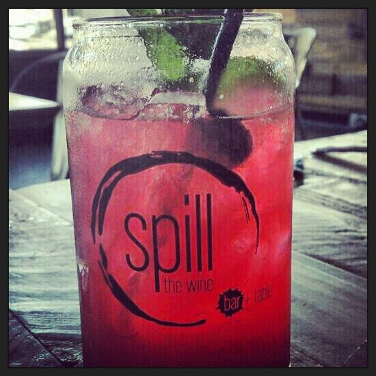 Spill the wine in Uptown- yummy drinks, great food and cool place