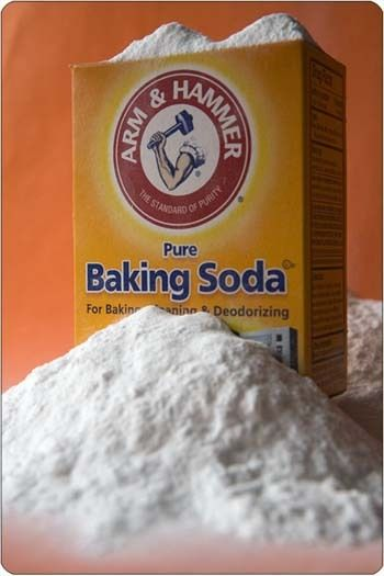 Baking Soda Shampoo. I tried this today. It's AMAZING! I just mixed it in with my regular shampoo. My hair feels so light and has crazy volume. It removes all the product build up  Wow! Also use baking soda and water as a face mask for 15 minutes to dry up oil in your pores.