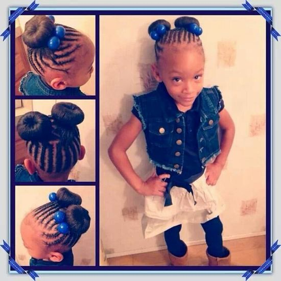 Natural hairstyle for little girls