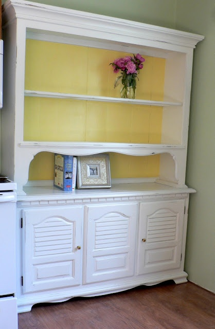 Refinished hutch- going to do this this weekend! Different colors...