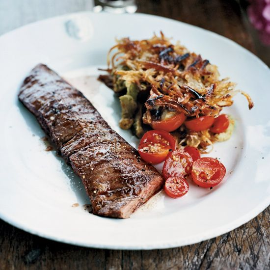 Grilled Skirt Steak with Rösti Potatoes // More Delicious Steak Recipes: www.foodandwine.c... #foodandwine