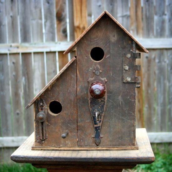 Metal birdhouse
