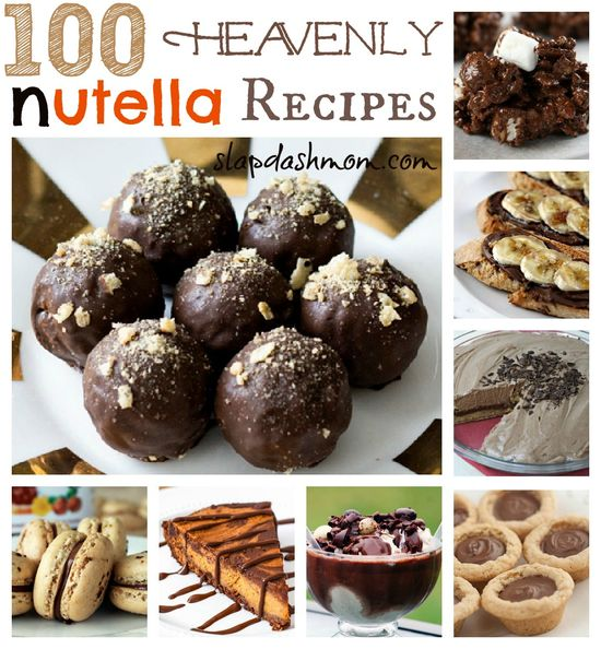 100 Heavenly Nutella Recipes #Nutella #Recipes #Delicious