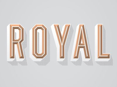ROYAL #font #typography