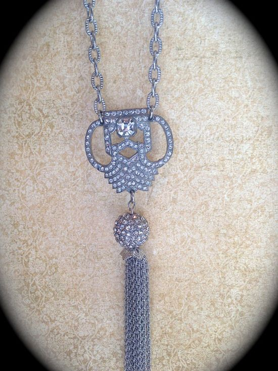 Vintage tassel necklace by JNPVintageJewelry on Etsy, $160.00
