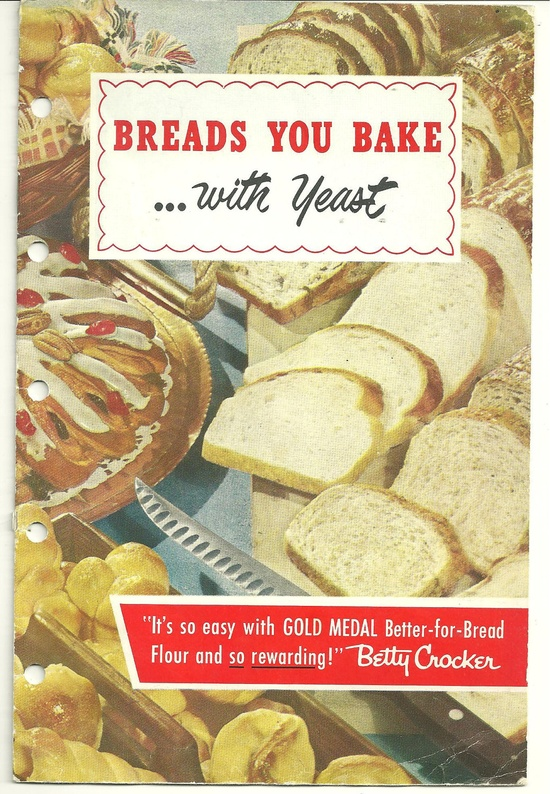 COLLECTIBLE Vintage Recipe CookBook Betty Crocker Breads You Bake with Yeast Cook Book