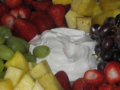 Marshmallow Cream Cheese Fruit Dip