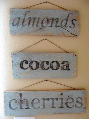 Vintage looking painted sign from distressed wood.