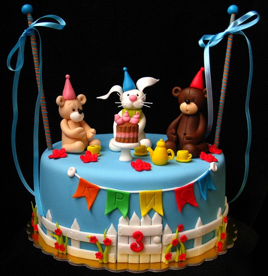 Animal party cake