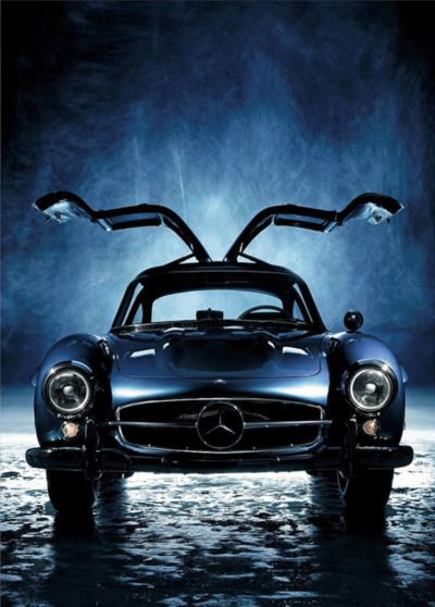 ? Black car mercedes-benz 300sl