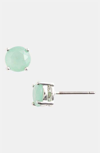Rachel Milk Glass Stud Earrings