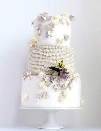 Pear inspired wedding cake.